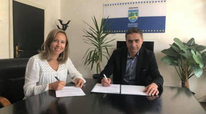 Signed MOU with Municipality of Mavrovo and Rostushe